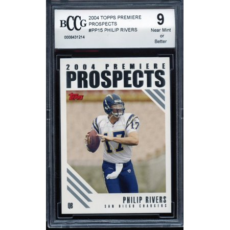 2004 topps premiere prospects #15 PHILIP RIVERS chargers rookie card BGS BCCG 9 (Philip Rivers Halloween)