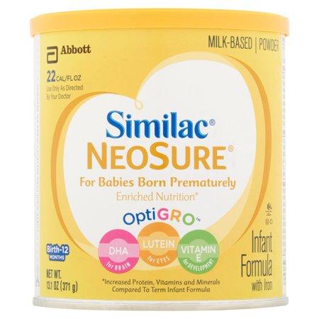 Abbott Similac Neosure Optigro Milk Based Powder Infant Formula With Iron Birth 12 Months 13 1Oz