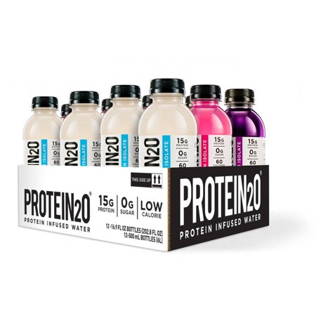 Protein2o Protein Infused Water  Variety  16 9 Fl Oz  12 Count
