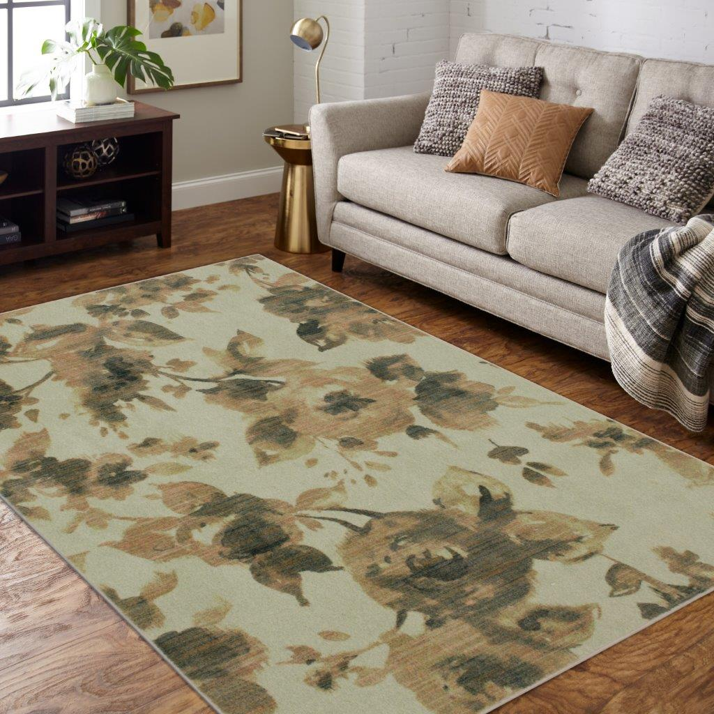 Mohawk Home Precision Printed Ciara Area Rug, Cream, 5' x 7'