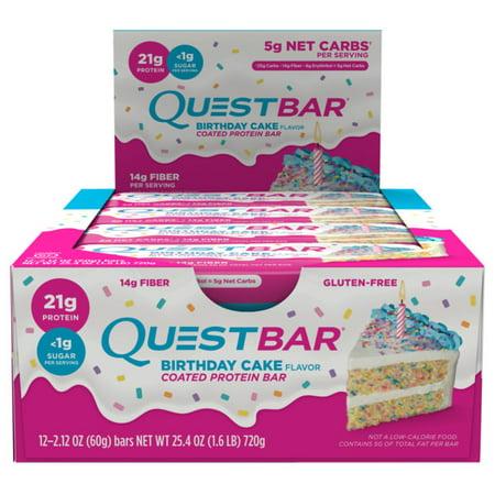 Quest Protein Bar Birthday Cake 21g 12 Ct