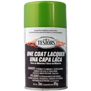 Testors One Coat Lacquer Paint, 3 oz. Spray Can, Lime Ice
