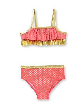 Op Toddler Girl Kisses Foiled Dot Bikini Swimsuit
