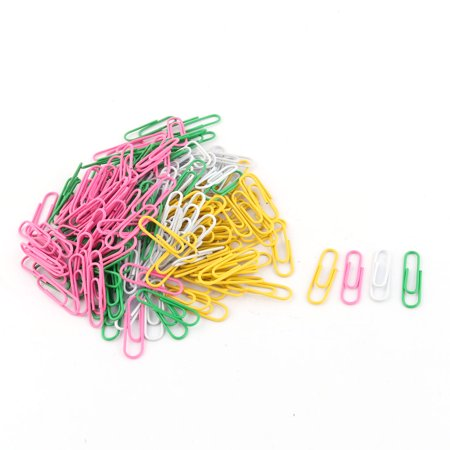 Unique Bargains 200 Pcs Assorted Color Plastic Metal Paper Clip Bookmark Files Office Home School Supplier (Heart Paperclip Bookmark)