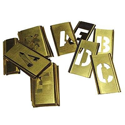 - Reese Interlocking Stencils 10026 Letters Stencil, Brass