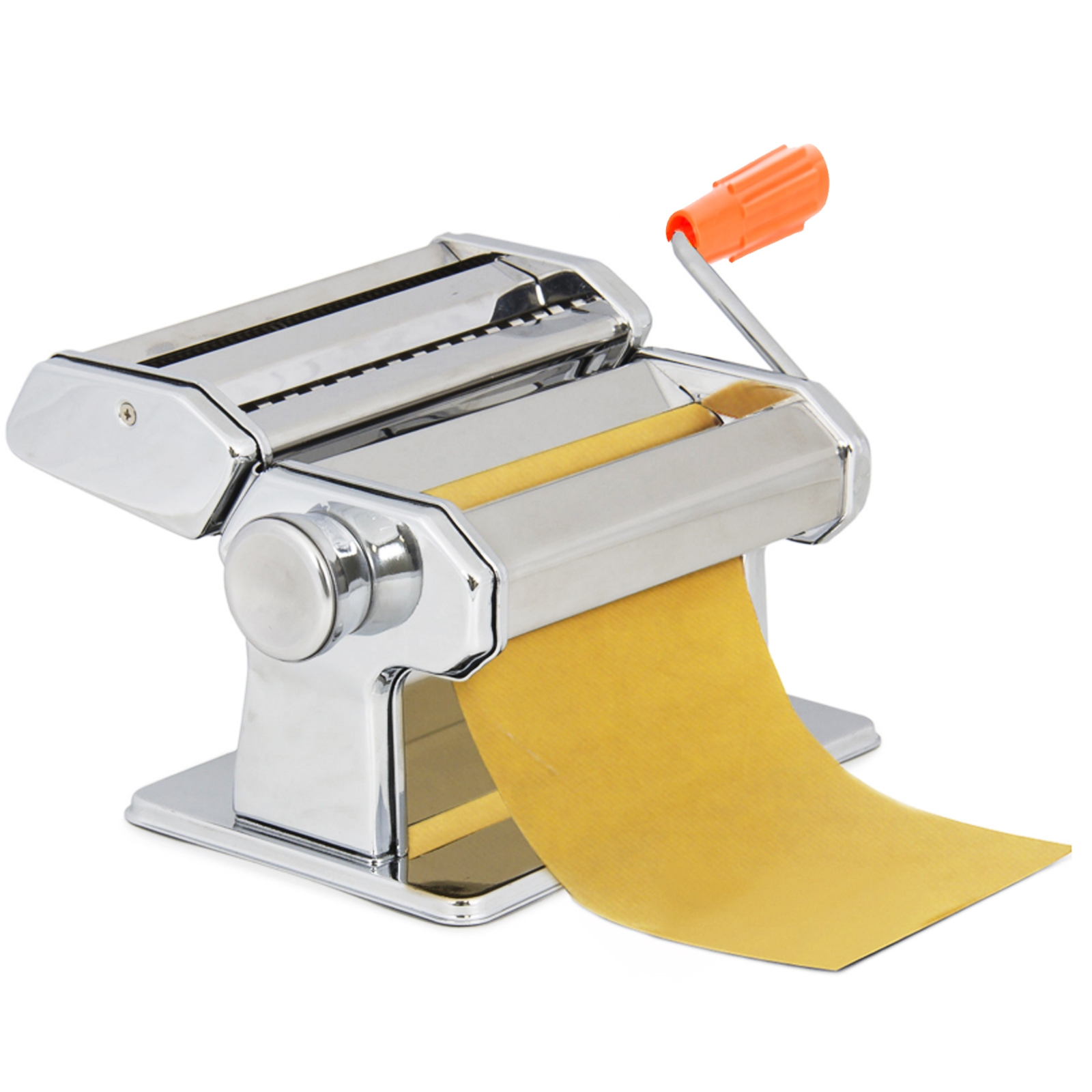 Pasta Maker Machine - Heavy Duty Steel Construction w Easy Lock Dial and Wood Grip Handle- Model 150