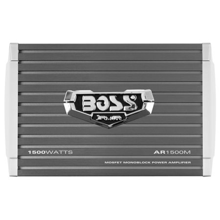 Boss Audio 1500 Watt Mono A/B MOSFET Power Car Amplifier + Remote | AR1500M (1500 Watt Kicker Amp)