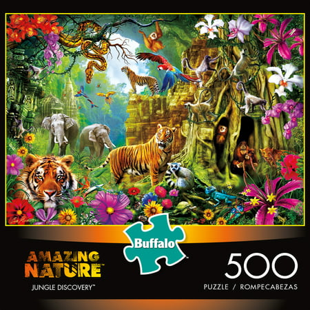 Jungle Games - Buffalo Games Amazing Nature Jungle Discovery Jigsaw Puzzle, 500 Pieces