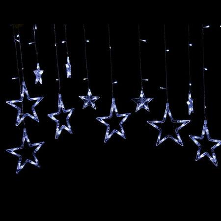 Star String Lights Outdoor : AMB005095 Waterproof Christmas Light LED Hanging Star String Lights Outdoor Holiday - Walmart.com