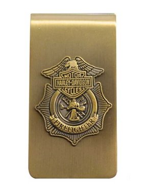 Firefighter Original Money Clip Antique Gold MC126526, Harley Davidson
