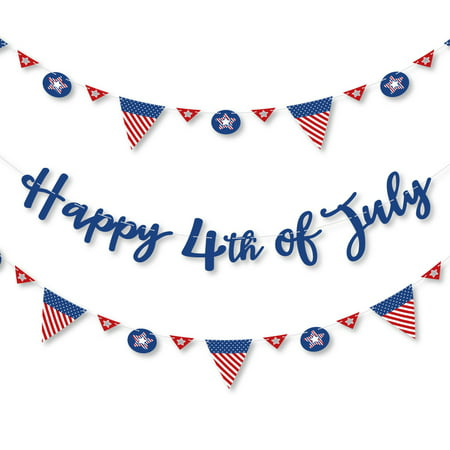 4th of July - Independence Day Letter Banner Decoration - 36 Banner Cutouts and Happy 4th of July Banner Letters](July 4th Decorations)