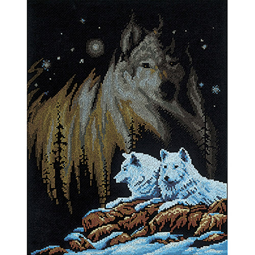 "Janlynn Northern Lights Counted Cross Stitch Kit, 11"" x 14"", 14 Count"