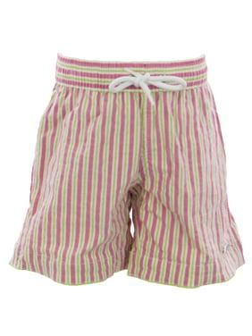 NAILA Boy's Candystripe Swim Trunks Pink/Green