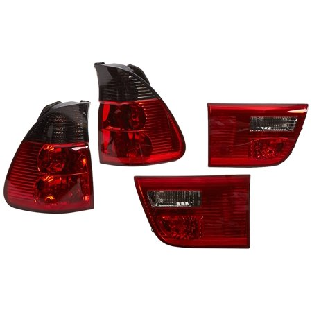 - Spec-D Tuning LT-X500RG-APC Bmw X5 E35 4.4I 3.0I 4.6I 4 Door, Red Smoked Lens 4 Pcs Tail Lights