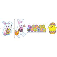 PMU Easter Cutout Decorations Assorted Designs (4/Pkg) Pkg/3
