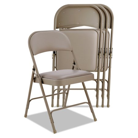 Alera Steel Folding Chair With Two Brace Support Padded