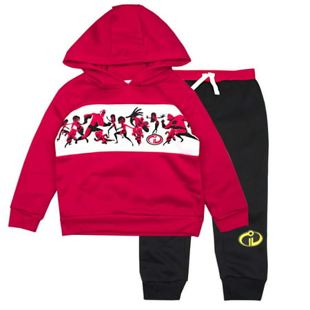 The Incredibles Toddler Boys Incredibles Jogger Set - Disney Pixar Hoodie & Sweatpants Set (Red/Black, 2T)](Mrs Incredible Outfit)