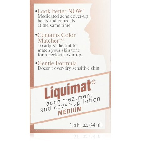 Summers Liquimat Acne Fighting Makeup Lotion, Medium, 1.5