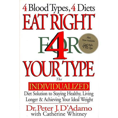 Eat Right for Your Type: The Individualized Diet Solution to Staying Healthy, Living Longer & Achieving Your Ideal Weight