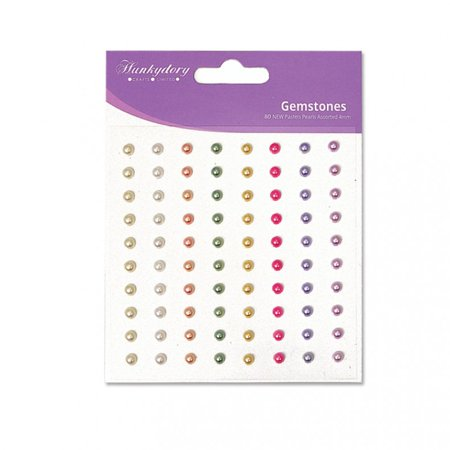 Perfect Pearls Jewels (3PK Hunkydory Diamond Sparkles Gemstones - 4mm - Pastel Pearls Self-Adh )