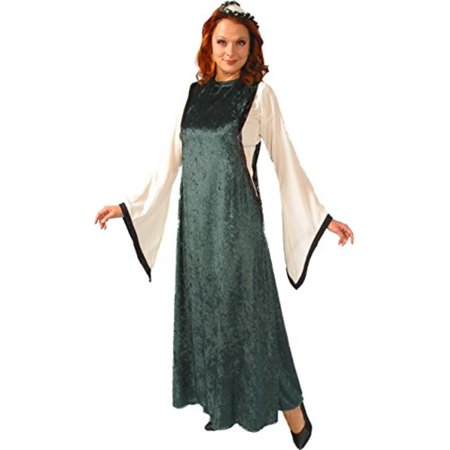 Alexanders Costumes 27-222-GR Womens Noble Maiden, Green - Large - Faire Maiden