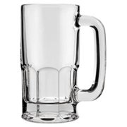 Classic Beer Mug, Glass, 12 oz, Clear,