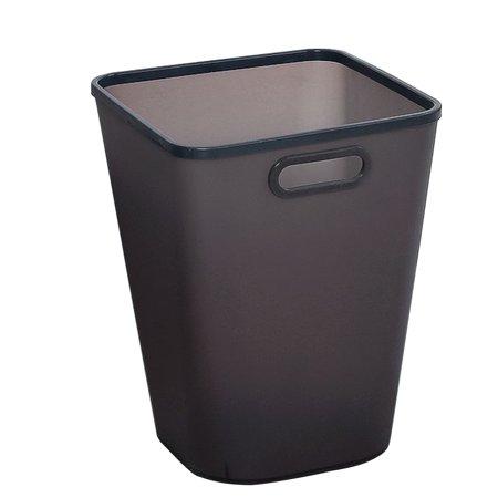 Large Capacity Pressing Ring Plastic Trash Can Household Garbage Storage Bin - Black