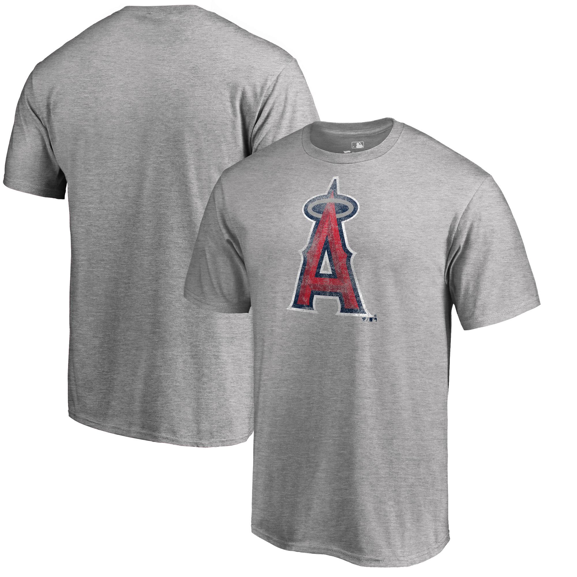 Los Angeles Angels Fanatics Branded Big & Tall Distressed Team T-Shirt - Heathered Gray
