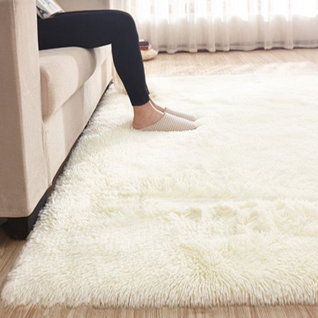 13 Colors 4 Sizes Modern Soft Fluffy Floor Rug Anti-skid Shag Shaggy Area Rug Home Bedroom Living Room Carpet Child Play Mat Yoga Mat