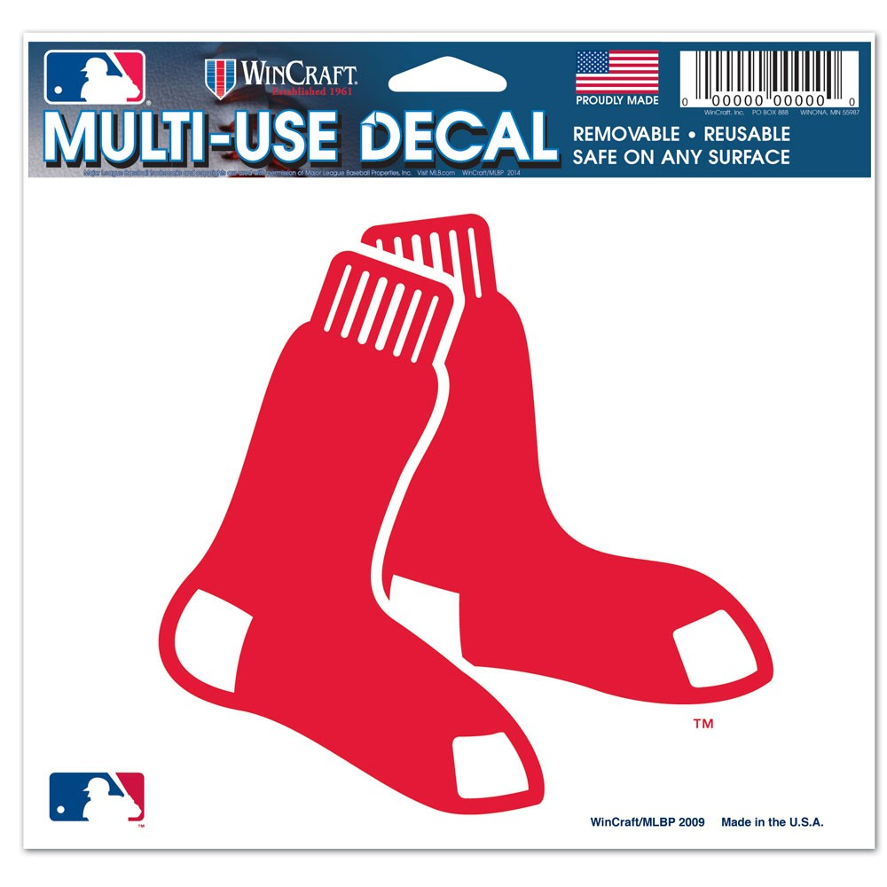 Boston Red Sox Official MLB 4 inch x 6 inch  Car Window Cling Decal by Wincraft