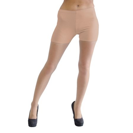 Vivian's Fashions Legging Shorts - Cotton, Misses Size (Beige, 1X) - Purple Booty Shorts