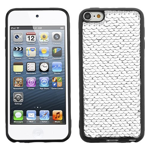 For iPod 6th 5th Generation Double-Sided Sparkling Sequin Candy Skin Case Cover