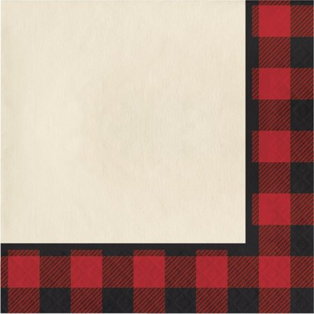 Plaid Paper Napkins (Buffalo Plaid Lunch Napkins (16)