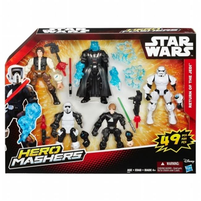 Hasbro HSBB3659 Star War Hero Mashers, Multi Pack of 4 by