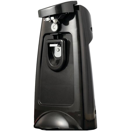 Brentwood Appliances J-29B Can Opener with Chromed Built-in Bottle Opener and Knife Sharpener by