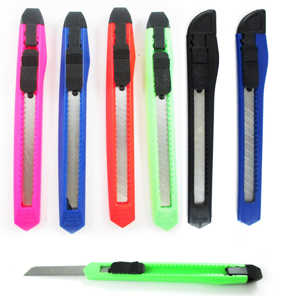 10 Box Cutters Breakaway Retractable Snap off Blade Sharp Utility Knife Razor