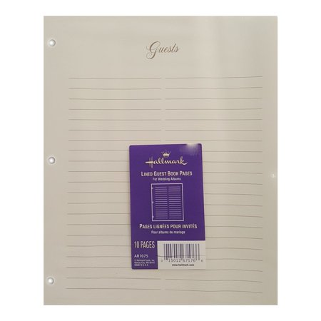 Hallmark Lined Guest Book Pages For Wedding Album AR1075 - Diy Wedding Guest Book