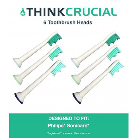 6 Philips Sonicare Replacement Electric Toothbrush Heads, Part # HX-6013