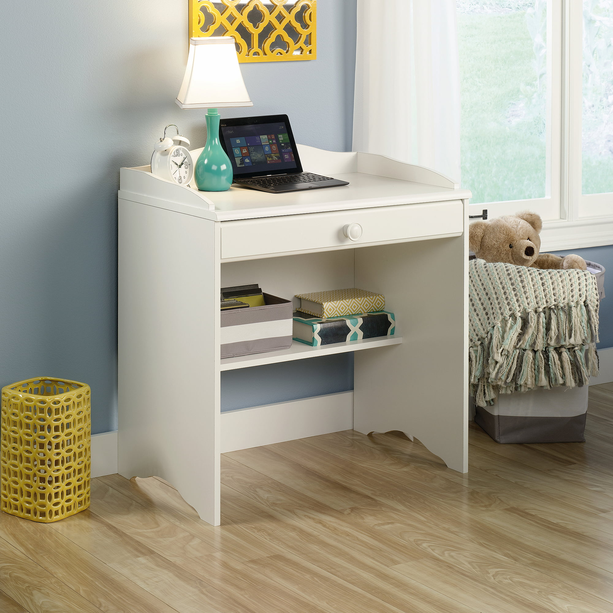 Sauder Storybook Kids Desk Soft White Or Jamocha Wood Finish Com