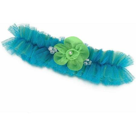 Blue/Green Tulle Garter
