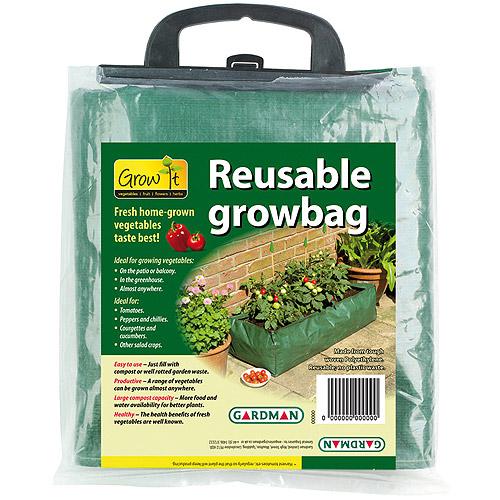Gardman 7500 39 in X 16 in X 9 in Green Reusable Patio Grow Bag