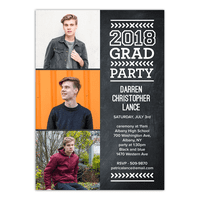 Modern Type Graduation Invitation