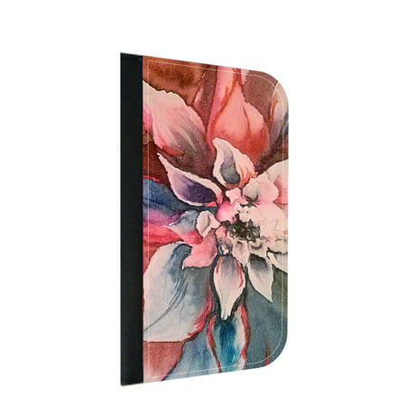 Lotus Flower Wallet Style Phone Case With 2 Card Slots Compatible
