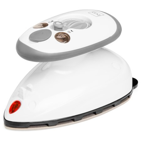 Best Choice Products 420W Portable Compact Design Anti-Drip Mini Iron w/ 1-Touch Steam Control, Non-Stick Soleplate, 3 Settings, Control Panel, (Best Y Level For Iron)
