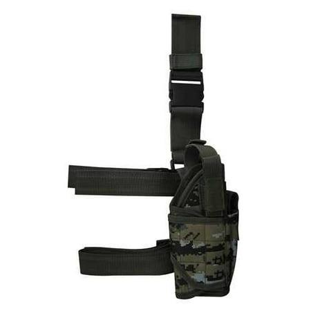 Ultimate Arms Gear Tactical Woodland Digital Camo Camouflage Adjustable Tornado Drop Leg Glock 37 38 21 25 31 32 Pistol/Gun w/ Light Or Laser Holster + Magazine Pouch