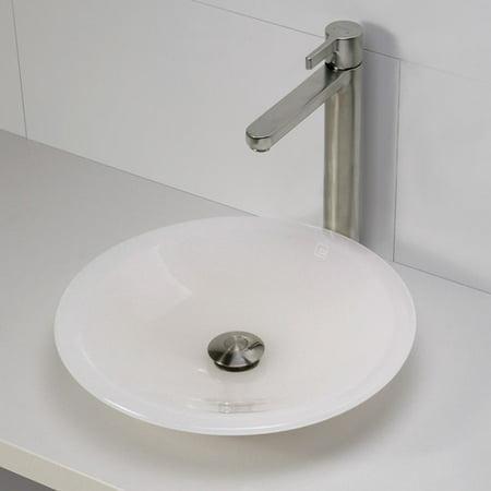 DecoLav Nadine Incandescense Plastic Circular Vessel Bathroom Sink ()
