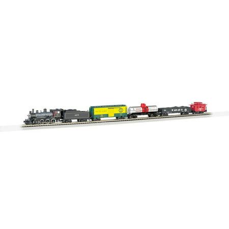 Electric Track Train - Bachmann Trains N Scale Trailblazer Electric Model Locomotive Train Set w/ Track