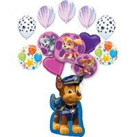 Paw Patrol Party Supplies Skye, Everest, Chase and friends Birthday Balloon Bouquet Decorations