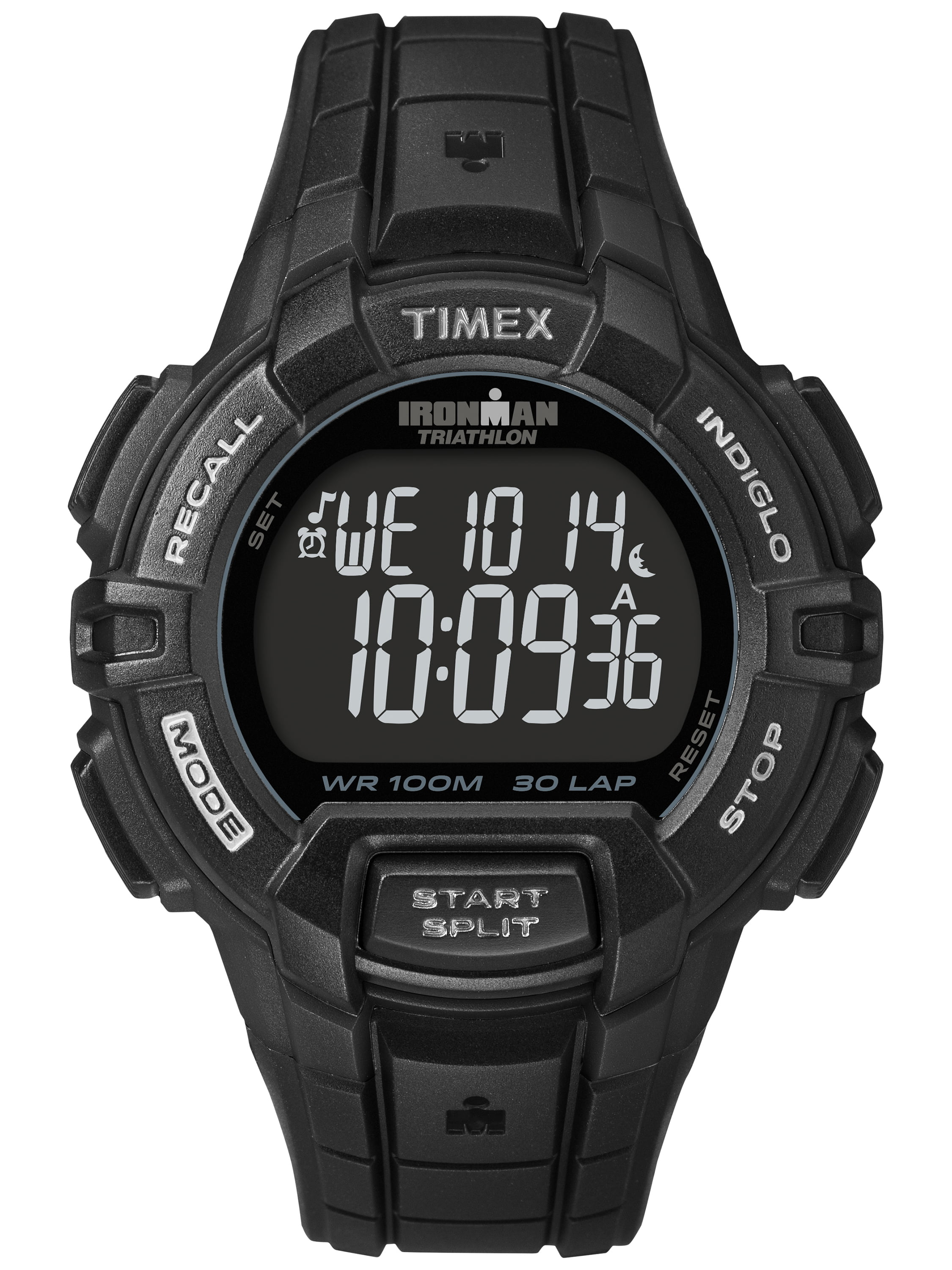 Timex Men's Ironman Rugged 30 Full-Size Watch, Black Resin Strap by Timex
