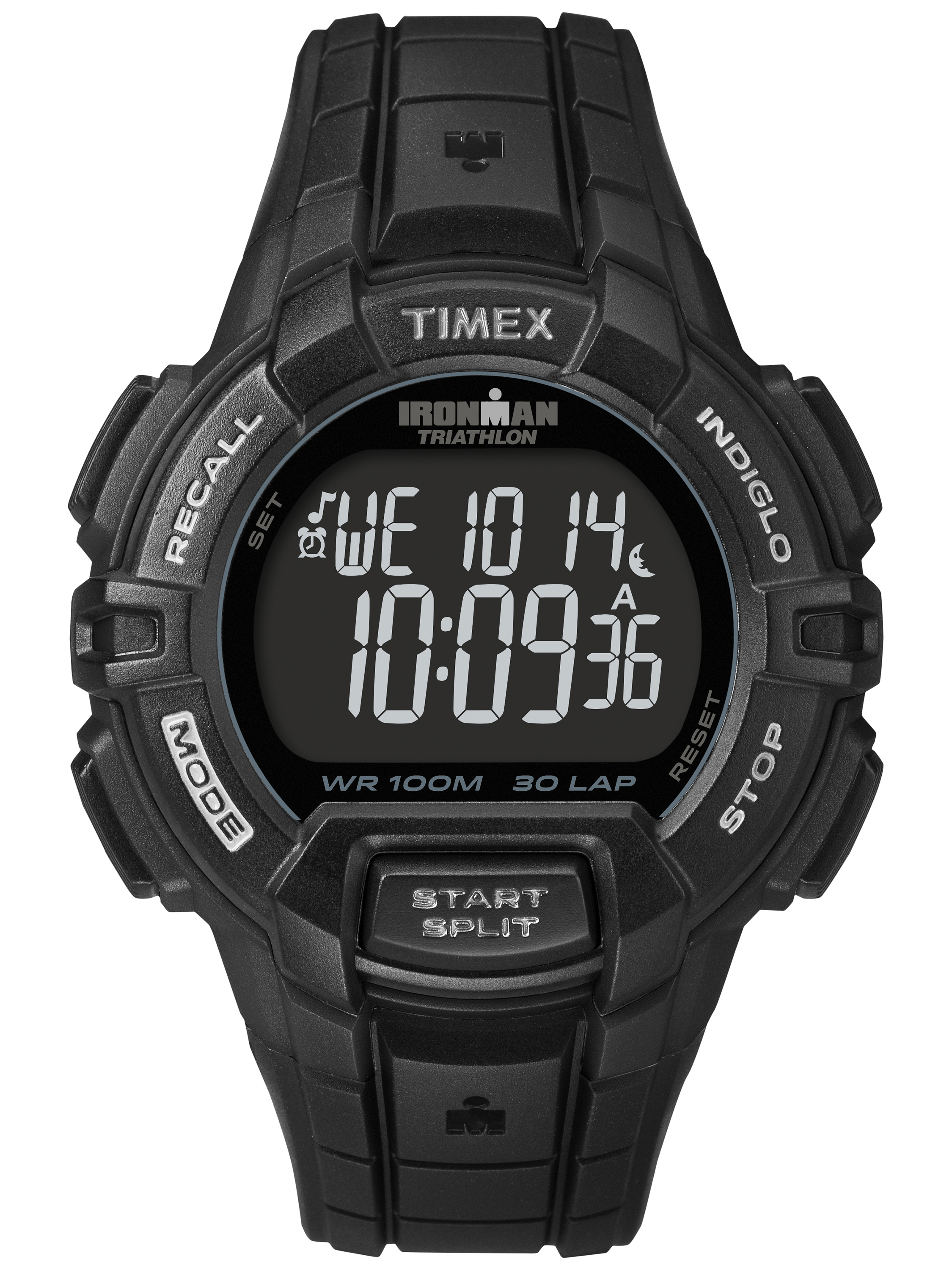 Timex Men's Ironman Rugged 30 Full-Size Watch, Black Resin Strap